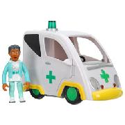 Fireman Sam Friction Ambulance with Nurse