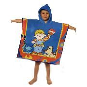 Bob the Builder Hodded Poncho Towel