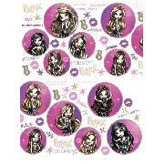 Bratz Wall Stickers Stikarounds Passion 4 Fashion Design 56 Pieces