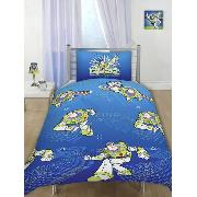 Buzz Lightyear Duvet Cover and Pillowcase Galaxy Defender Design Bedding