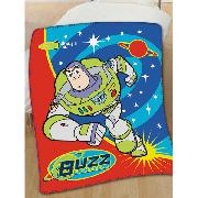 Buzz Lightyear Large Fleece Blanket Galaxy Defender Design