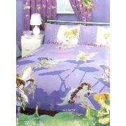 Disney Fairies Double Duvet Cover and Pillowcase Bedding