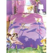 Disney Fairies Duvet Cover and Pillowcase Single Fantasy Design Bedding