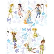 Disney Fairies Wall Stickers Stikarounds 45 Pieces