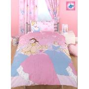 Disney Princess Duvet Cover and Pillowcase 'Lets Be Princess' Design