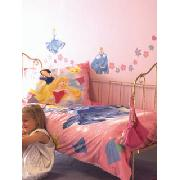 Disney Princess Wall Stickers Stikarounds 54 Pieces