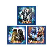Doctor Who Wall Stickers Art Squares 3 Large Pieces Dr