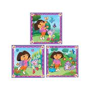 Dora the Explorer Art Squares 3 Large Pieces