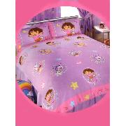 Dora the Explorer Double Duvet Cover and Pillowcase Swirl Design Bedding