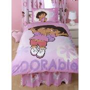 Dora the Explorer Duvet Cover and Pillowcase Totally Adorable Design Bedding