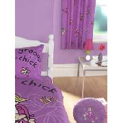Groovy Chick Hearts Curtains