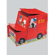 Postman Pat Van Wooden Toy Box Storage