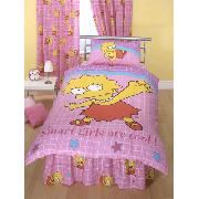 Simpsons Fitted Valance Sheet 'Lisa' Design