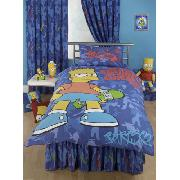Simpsons Valance Sheet Bart Simpson 'Camo' Fitted Design