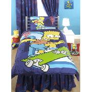 Simpsons Valance Sheet Bart Simpson 'Skaterboy' Fitted Design