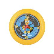 Simpsons Wall Clock Bart 'Skate' Design