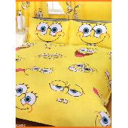 Spongebob Squarepants Double Duvet Cover and Pillowcase Expressions Bedding