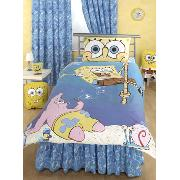 Spongebob Squarepants 'Dropping In' Fitted Valance Sheet