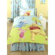 Winnie the Pooh Valance Sheet Fitted 123 Design