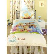 Winnie the Pooh Valance Sheet Fitted 'Best Friends' Design