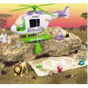 Animal Hospital Safari Helicopter Playset