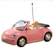 Barbie Pink R/C Beetle with Doll