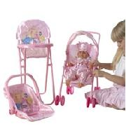 Disney Princess Doll and 3 Piece Nursery Set