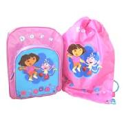 Dora Backpack and Trainer Bag