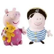 Peppa Pig Soft Toy Twin Pack