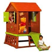 Smoby Winnie the Pooh Log Cabin with Slide
