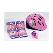 Disney Princess Helmet with Pads and Bell.