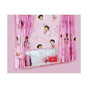 Dora the Explorer Pair of 66 x 54In Unlined Curtains - Pink.