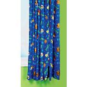 Scooby Doo Pair of 66 x 54In Unlined Curtains - Blue.