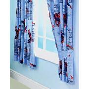 Spiderman 3 Gravity Pair of 66X54IN Curtains - Blue and Red.