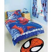 Spiderman 3 Gravity Single Duvet Set - Blue and Red.