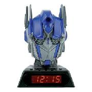 Transformers Optimus Prime Talking Projection Alarm Clock.