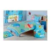 Winnie the Pooh Lazy Days Single Duvet Cover Set - Blue.