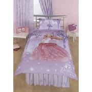 Barbie 'Dancing Princess' Duvet Cover and 66In x 72In Curtains