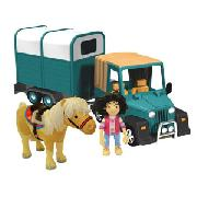Postman Pat Amy and Horse Box Playset