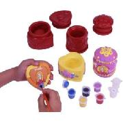 Barbie Plaster and Paint Trinket Pots