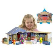 Barney - Deluxe School House Playset