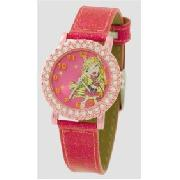 Bratz - 32 Diamante Pink Glitter Watch