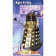 Doctor Who Dalek Birthday Brother Card