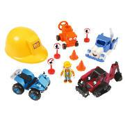 Bob the Builder Helmet and Vehicle Playset