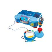 V.Smile TV Learning System Blue with Back Pack and Adaptor (Including Thomas and Friends Game)